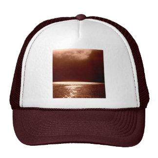 Beach Scene -Stars Dancing on the Water -Sepia Mesh Hat