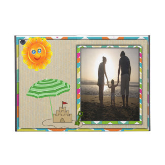 Beach Scene, Sun, Sand, Sandcastle Photo Template Cover For iPad Mini