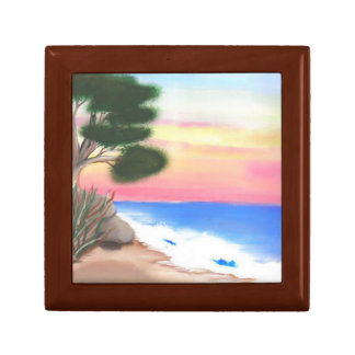 Beach Scene - Tile Gift Box