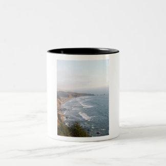 Beach scene Two-Tone coffee mug