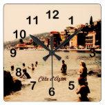 Beach scene, Villefranche Côte d'Azur clock