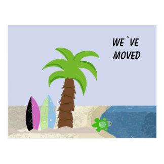 Beach Scene We`ve Moved Postcard