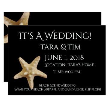 Beach Scene Wedding invitation