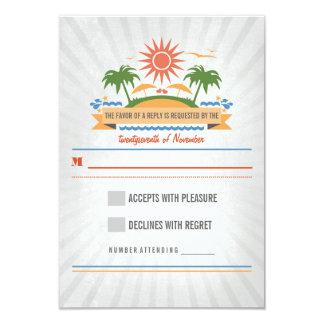 Beach Scene Wedding RSVP Cards