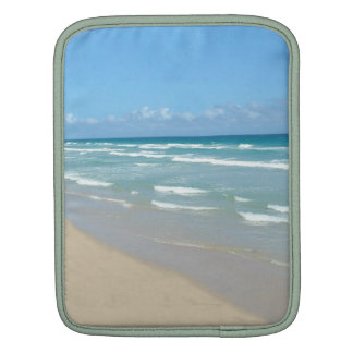 Beach Scene - White Sand and Beautiful Ocean Sleeve For iPads