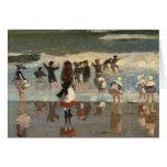 Beach Scene - Winslow Homer Greeting Card