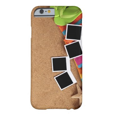 USA Themed Beach scene with blank , towel, barely there iPhone 6 case