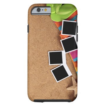 USA Themed Beach scene with blank , towel, tough iPhone 6 case