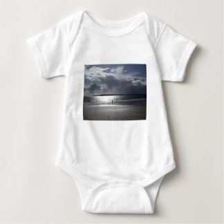 Beach Scene with people Walking Baby Bodysuit