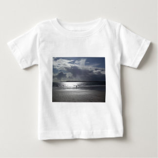 Beach Scene with people Walking Baby T-Shirt