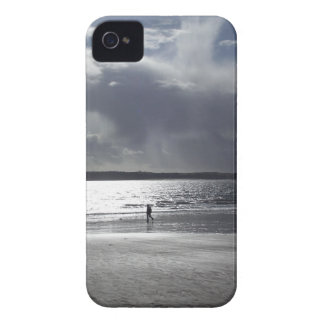 Beach Scene with people Walking iPhone 4 Covers