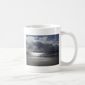 Beach Scene with people Walking Coffee Mug