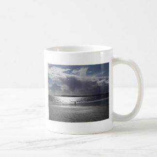 Beach Scene with people Walking Coffee Mugs