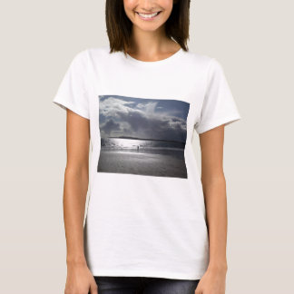 Beach Scene with people Walking T-Shirt