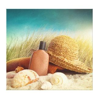 Beach Scene Wrapped Canvas