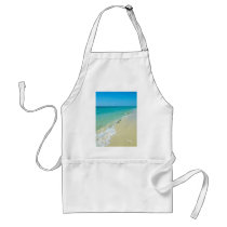 Beach scenery adult apron