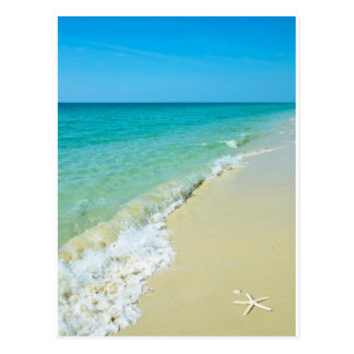 Beach scenery postcard
