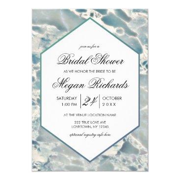 Ocean Themed Beach Sea Glass Ocean Bridal Shower Invitation