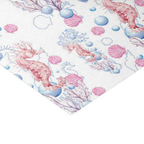 Beach sea horse and bubble pattern party tissue tissue paper