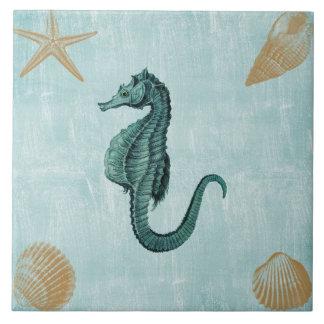 Beach Sea Horse Ceramic Tile