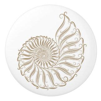 Beach Sea Shell Drawer Knobs - SRF Ceramic Knob