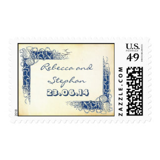 beach sea shell nautical postage stamps