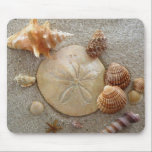 "Beach Sea Shells Mousepad<br><div class=""desc"">Beach Sea Shells Scene Mousepad</div>"