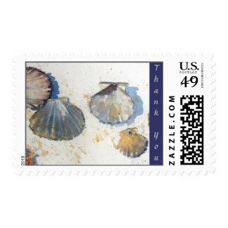 Beach Sea Shells Wedding Collection Thank You Stam Postage