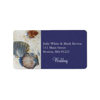 Beach Sea Shells Wedding Return Address Label