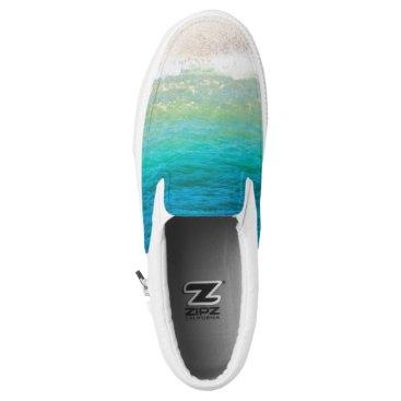 Beach Themed Beach Sea Shore Sand Ocean Slip On Sneakers