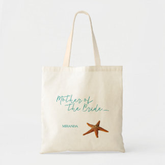 Beach sea starfish wedding mother of the bride tote bag