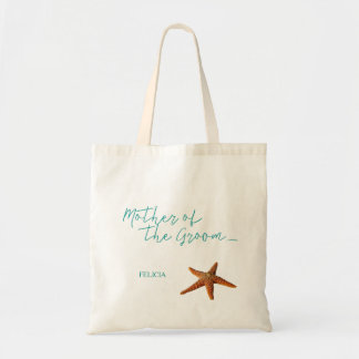 Beach sea starfish wedding mother of the groom tote bag