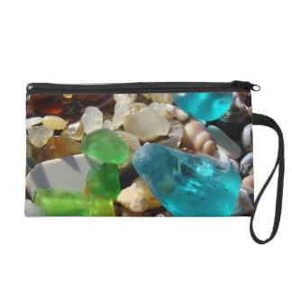 Beach Seaglass Wristlet clutch purse coastal