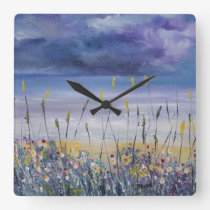 Beach seascape nautical clock