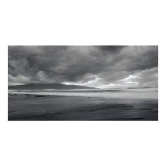 Beach seascape photo card