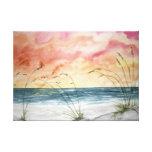 beach seascape watercolor painting canvas prints