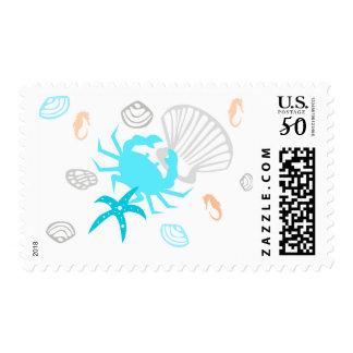 Beach Seashell Nautical Theme Postage Stamps