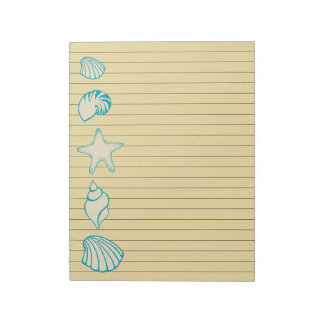 Beach Seashell Notepad
