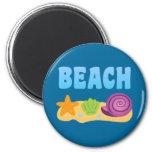 Beach Seashells Fridge Magnets