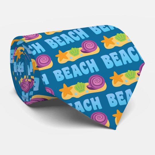 Beach Seashells Neck Tie