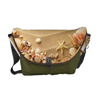 Beach Seashells Sand Hawaii Resort Bag Tote Purse Messenger Bag