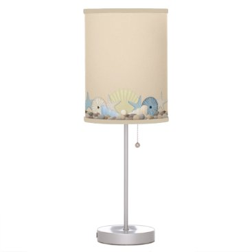 Beach Themed Beach Seashells, Starfish and Urchins Desk Lamp