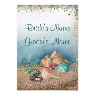 Beach Seashells Wedding Personalized Invite