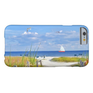 Beach, Seaside, and Birds, Customizable Barely There iPhone 6 Case