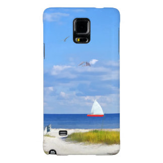 Beach, Seaside, and Birds Galaxy Note 4 Case