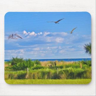 Beach, Seaside, and Birds Mousepad