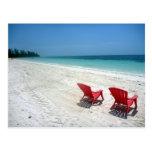 beach seats postcards