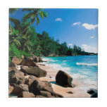 Beach Secret Getaway Small Square Tile