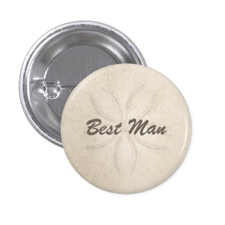 Beach Serenity Best Man Button