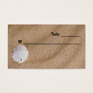 Beach Serenity Place Cards Business Card